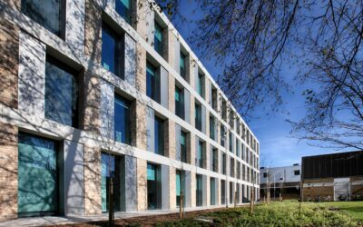 Hydromix Fluid inhibits efflorescence on coloured GRC Cladding project