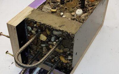 HEBAU Surface retarders selected for construction joint key on major concrete pour.